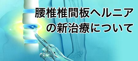 椎間板内酵素注入療法について